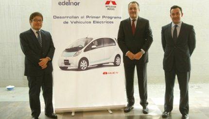Edelnor y Mitsubishi firman convenio para promover auto electrico